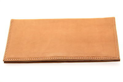 Large Card Holder Checkbook Wallet Mens Womens Genuine Leather Large Money Slot