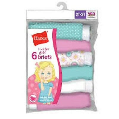 Hanes® 6 Pack Toddler Girl's Briefs