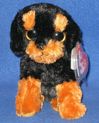 TY BRUTUS the ROTTWEILER BEANIE BABY - SITTING DOWN VERSION - MINT with MINT TAG