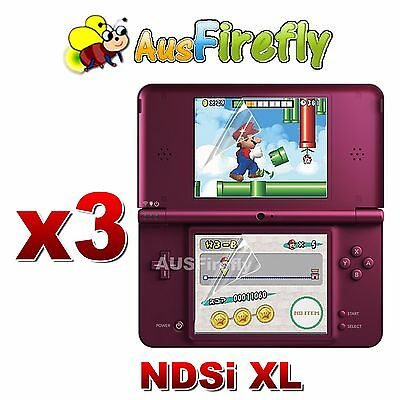 3x LCD Clear Screen Protector Film Guard for Nintendo NDSi DSi LL XL Console