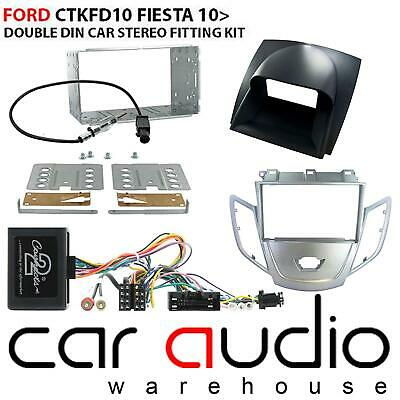 Ford Fiesta 2010 On Car Stereo D/Din Fascia & Steering Wheel Interface CTKFD10