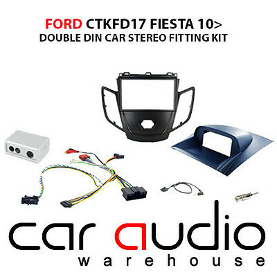 Ford Fiesta 2010 On Car Stereo D/Din Fascia & Steering Wheel Interface CTKFD17