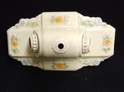 Vintage Ceramic Porcelain Ceiling Light Fixture Flush Mount Floral 3531-14