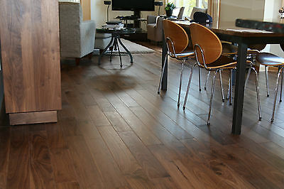 "3/4"" x 5"" UV Oiled Black Walnut Solid Engineered Hardwood Floor Flooring Sample"