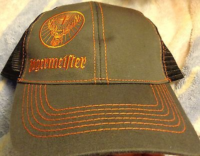 Jagermeister..Trucker style hat with mesh back...Brown...NEW