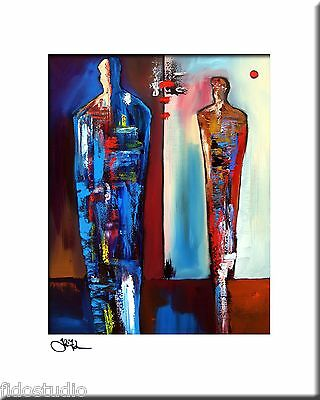 FORWARD - Original Abstract Painting Modern Art Figure Print decor by Fidostudio