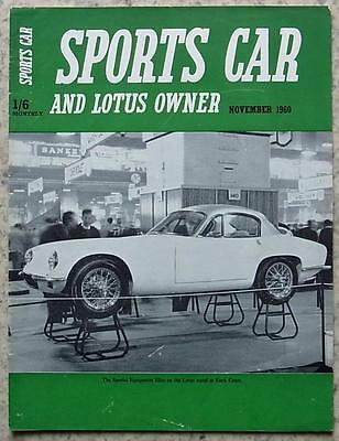 SPORTS CAR & LOTUS OWNER Magazine Nov 1960 GORDON GT TEST Formula Junior
