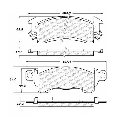 Disc Brake Pad-Posi-Quiet Extended Wear w/Shims and Hrdwr-P Centric 106.00520