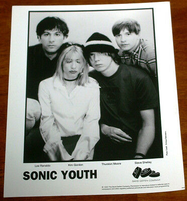 Sonic Youth 8x10 B&W Press Photo DGC Records 1992