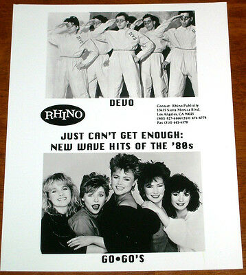 1 ENGLISH CLIPPING DEVO NOT SHIRTLESS ROCK POP WAVE BAND