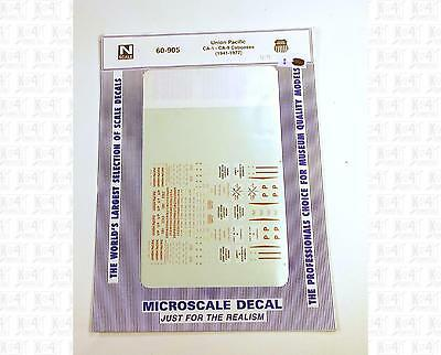 Microscale N Decals Union Pacific Cabooses CA-1 Through CA-9 60-905