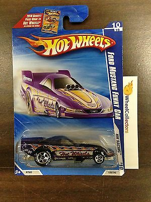 Ford Mustang Funny Car PURPLE w/ GOODYEAR Tires #158 * 2010 Hot Wheels D11