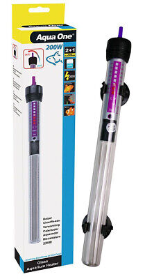 Aqua One Automatic Submersible Aquarium Fish Tank Heater 200W 3 YEAR WARRANTY