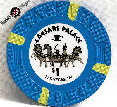 $1 One Dollar Poker Gaming Chip Caesars Palace Hotel Casino Las Vegas Nv 2013