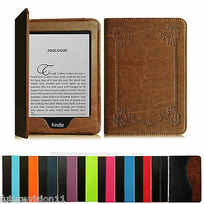 """2012 2013 2014 & 2015 All-New Kindle Paperwhite 6"""" Leather Case Cover"""