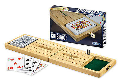 Gibsons Traditional Cribbage - Brand New Wooden Set with Playing Cards Gibson