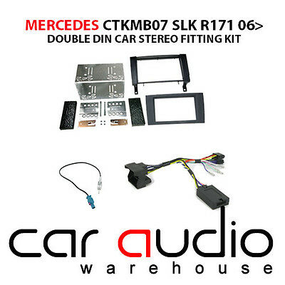 Mercedes SLK 2006 Car Stereo D/Din Fascia & Steering Wheel Interface CTKMB07