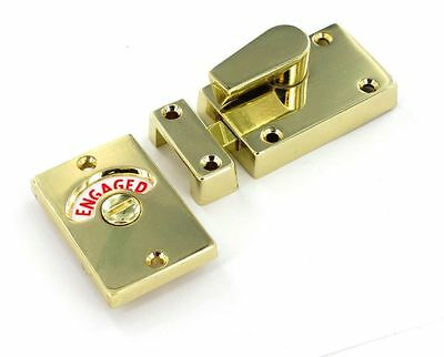 INDICATOR BOLT Toilet Bathroom WC Facility Door Lock Privacy Engaged Vacant