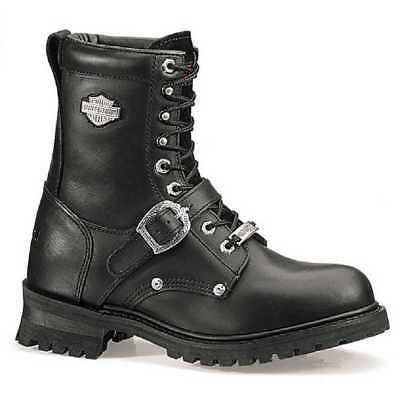 Harley-Davidson Men's Faded Glory 8-Inch Motorcycle Black Boots D91003