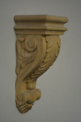 Acanthus Leaf Maple Wood Corbel Bracket Hand Carved
