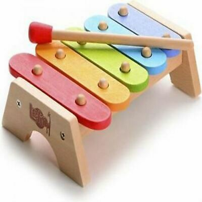 Lelin Children Kids Wooden Rainbow Xylophone Learning Musical Instrument Toy