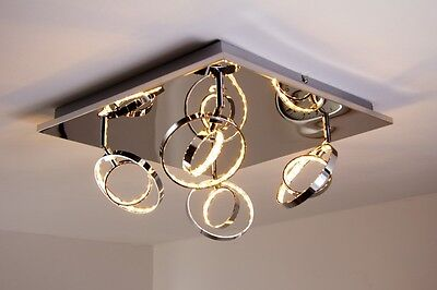 plafonnier led design lustre lampe suspension chrome. Black Bedroom Furniture Sets. Home Design Ideas