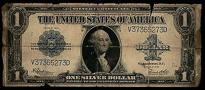 1923 One Dollar Silver Certificate Note Low Grade As Pictured 273D  PM7