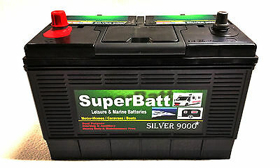 12V 130AH (110AH) Heavy Duty Deep Cycle Leisure Marine Battery SuperBatt CP130