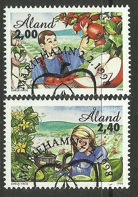 ALAND. 1998. Horticulture Set. SG: 130/31. Fine Used CTO.
