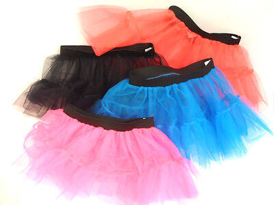New Womens Ladies Girls Tutu Net Skirt Flared Puffy Elasticated Retro Layers