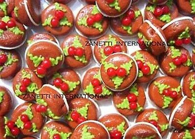 100 Dollhouse Miniature Christmas Cakes Pudding*Mini Xmas Food Dessert Wholesale