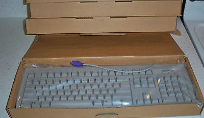 New eMachines PS/2 Grey Keyboard Model 78001686 US Seller Big Key Keyboard