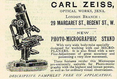 1900 AD Carl Zeiss Optical Works Photo Micrographic Stand-for microscope