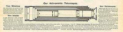 1891 AD Achromatic Telescope-cross-section
