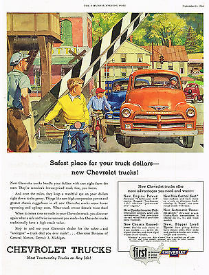1954 AD Chevrolet light delivery trucks-safest place for your truck dollars