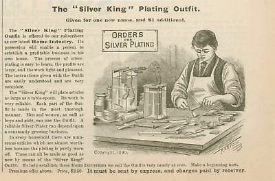 1890 AD Silver King silverpating plating outfit-