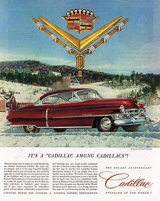 1952 Cadillac AD Golden Anniversary Cadillac-Van Cleef & Arpels jewelry-