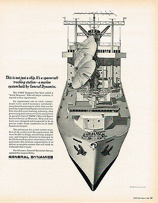 1968 AD General Dynamic marice spacecraft tracking station advertising