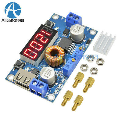 TOP 5A CC CV LED Drive Lithium charger Power Step-down Module W/ USB Voltmeter
