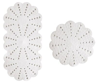 "Anti-Slip White ""Petal"" Bath & Shower Mat Set"