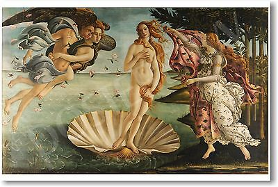 The Birth of Venus - 1486 - Sandro Botticelli - NEW Fine Arts Print POSTER
