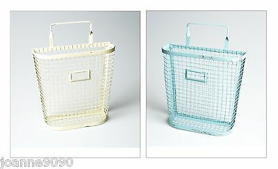Small Wall Mounted Rustic Wire Storage Magazine Newspaper Letter Rack Home Gift
