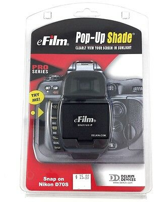 Delkin eFilm DND70S-P Pro Snap-On LCD Screen Shade/Hood for Nikon D70s #63213