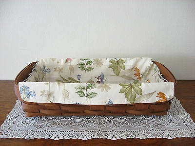 NEW Longaberger Botanical Fields Small Serving Tray Liner ONLY - Fits Bread 2
