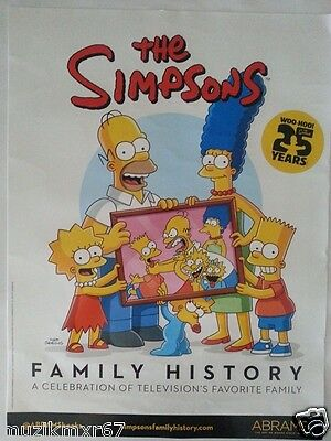 SDCC Comic Con 2014 Handout The Simpsons FAMILY HISTORY Poster