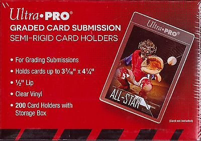 Ultra Pro  200 count box semi rigid card holder graded card submission #43000
