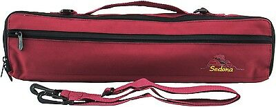 Sedona Canvas Flute Case Cover/Bag with Fleece Lining  - Garnet Red