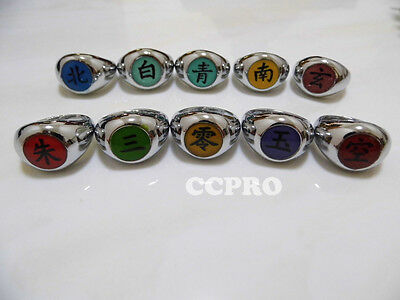 Naruto shippuden Akatsuki Organization member's ring/10pcs metal ring for cos!