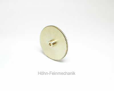 Spur Gear, Gear, Module 0,5, made from Brass, 80 Teeth with Hub