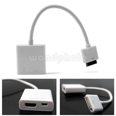Connector to HDMI TV Adapter Cable Mini USB Sync Charger for iPad2 3 iPhone4 4S